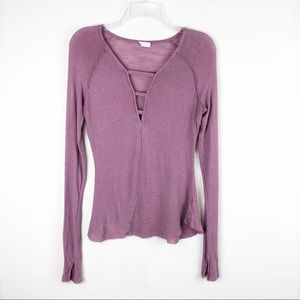 Intimately Free People Bar Neck Thermal Top